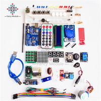 full Sets Starter Kit Basic Learning Suite UNO R3 Kit Upgraded Stepper Motor LCD1602 LED Jumper Wire For Arduino