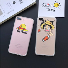 Silk Pattern Hat Coque Fundas for iPhone 7 Plus Case Cartoon One Piece Luffy One Piece Phone Cases for iphone SE 5 5S 6 6S Cover