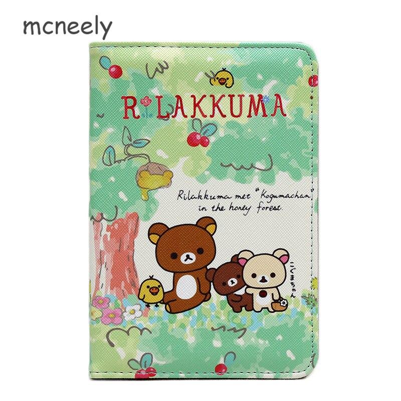 Expressive Cartoon Rilakkuma Pu Leather Passport Covers Travel Accessories Id Bank Credit Card Bag Men Women Passport Business Holder Case Elegant Shape Coin Purses & Holders