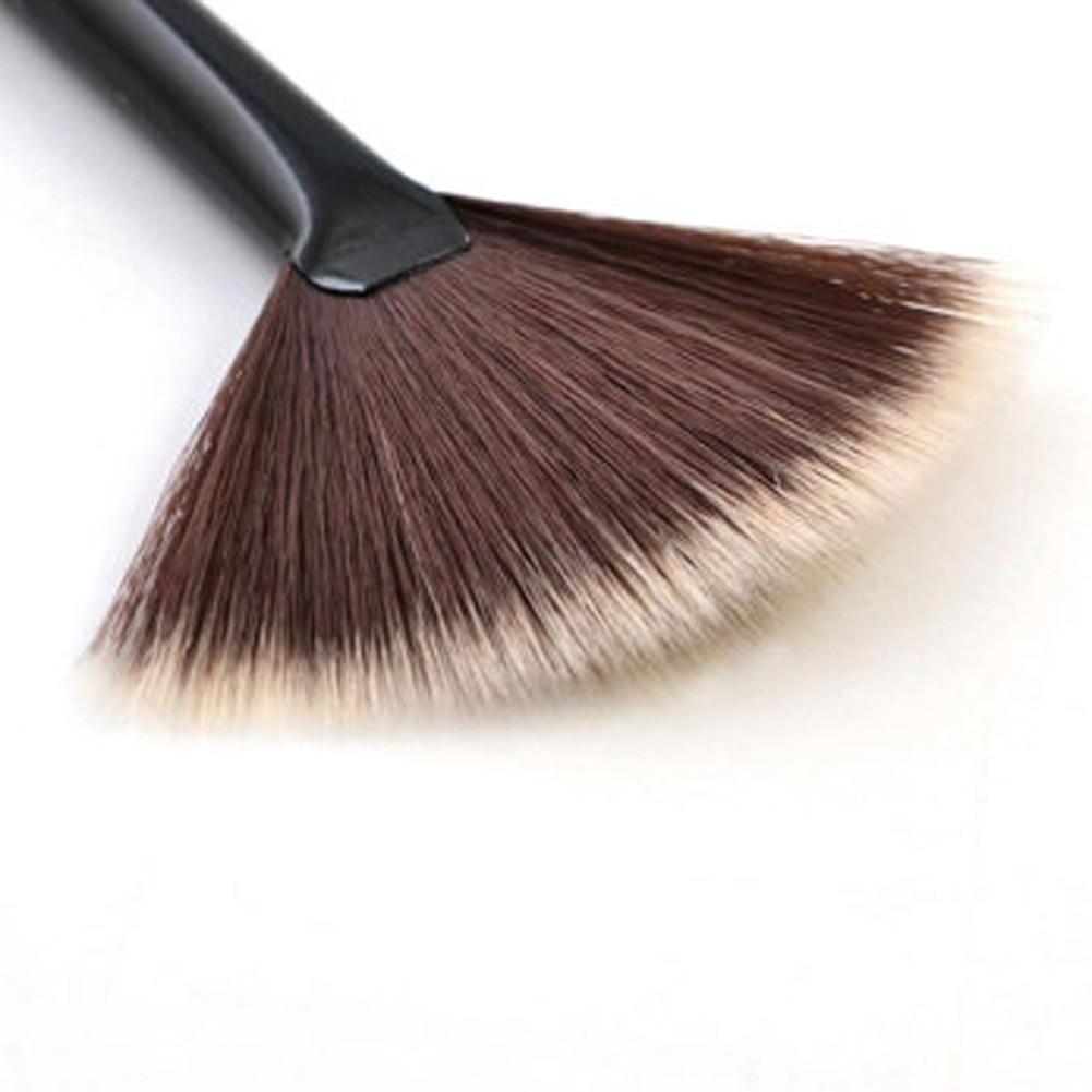 New Single Makeup Brush Blending/Contour/Cheek Blusher Powder Sector Makeup Brush Soft Fan Brush Foundation Brushes top quality top quality foundation brush angled makeup brush