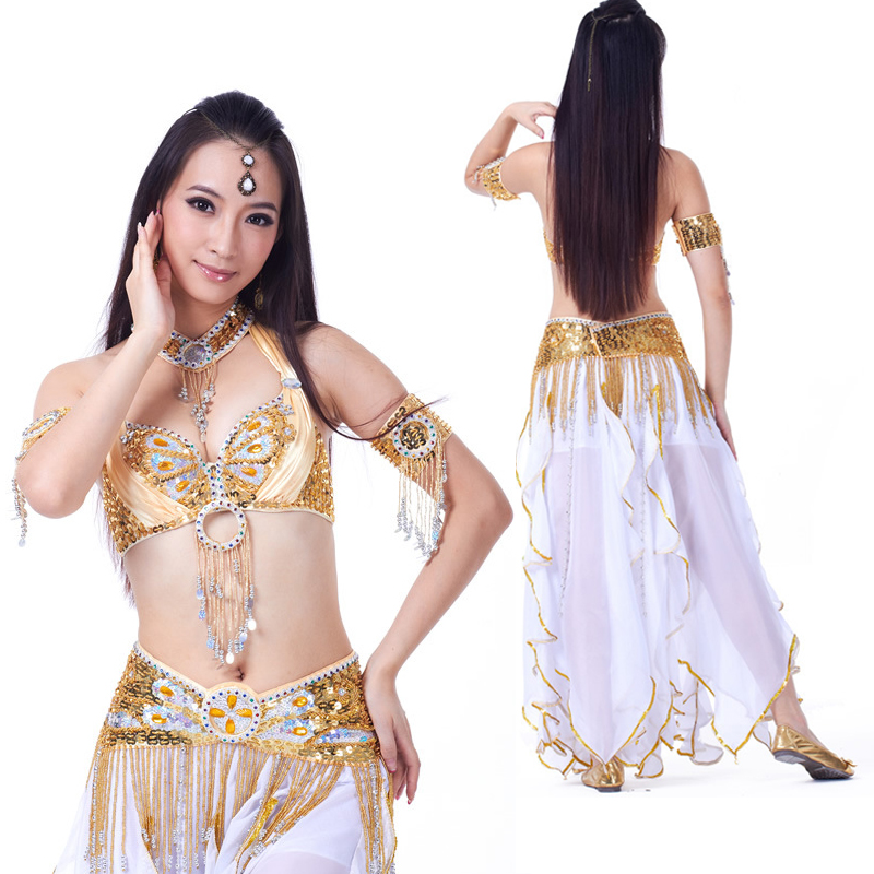 New 2019 Professional Belly Dancing Clothing Oriental Dance Outfits 1pc-6pcs Belly Dance Costume Set For Women