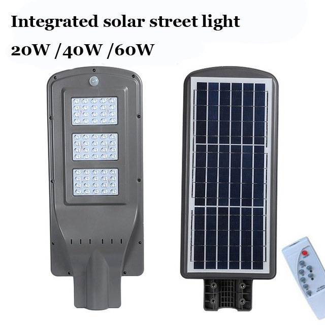 10PCS 20W 40W 60W LED Integrated Luminaria Solar Lights For Garden Powerful Outdoor Waterproof Street Light Radar Motion Sensor