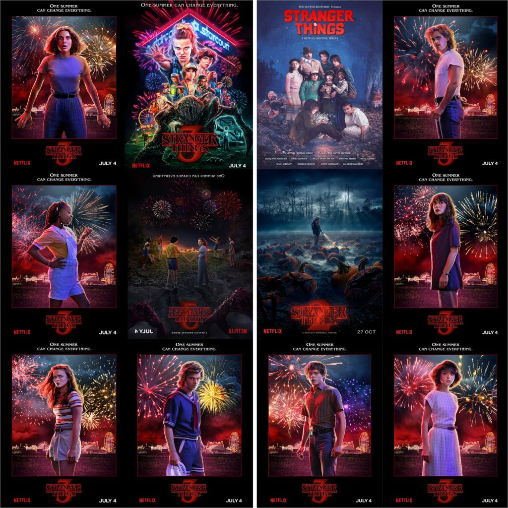 Stranger Things Season 3 Posters Wall Stickers Glossy Paper Clear Image Home Decoration Free Shipping