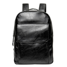 2019 New Hot Men's Retro Fashion PU Backpack Youth School Bag Men's Casual Backpack Laptop Bag Large Business Simple Travel Bag the new 2016 contracted fashion travel bag backpack gift bag business backpack