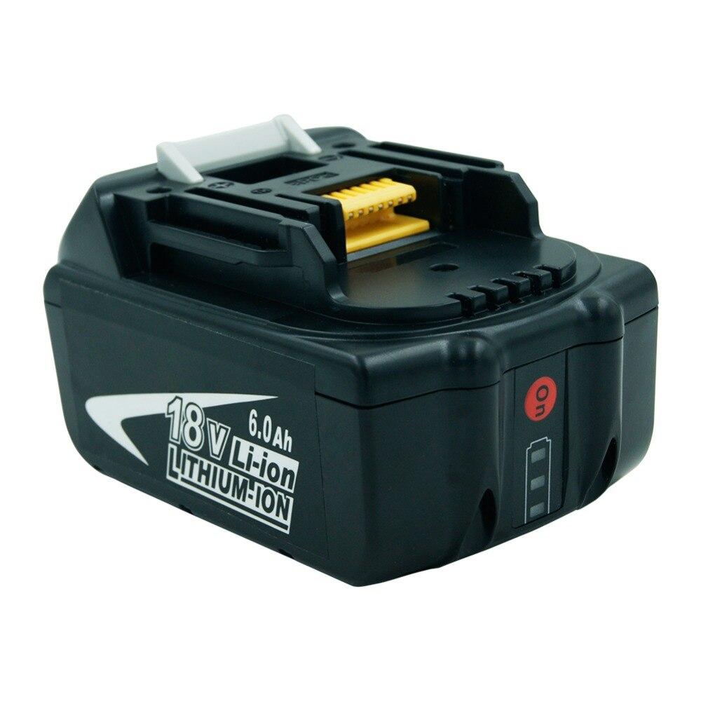18 V 6000 mAh Rechargeable Li-ion batterie pour makita Power Tool 194309-1 BL1815 BL1830 BL1840 LXT400 lumière led NOUVELLE MISE À JOUR PCB