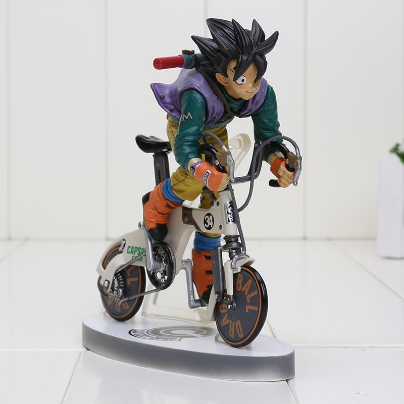 Japan Anime Dragon Ball Z Son Goku Kakarotto Rinding Bicycle Bike 16CM Figure Toys New in Box