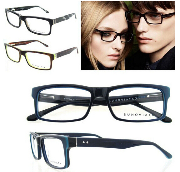 Free Shipping 2016 Hot Sell New Arrival High End Women eyeglasses frame acetate Striped fashion glasses frame with spring hinge
