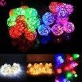 Nuevo 20 LED Luces de Cadena de Bolas de Ratán Home Garden Lamp Banquete de Boda de Navidad Decoración