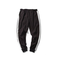 Outdoor 2019 Spring Autumn hip hop teenagers joggers harem running track boys sweatpants triped elastic waist trousers