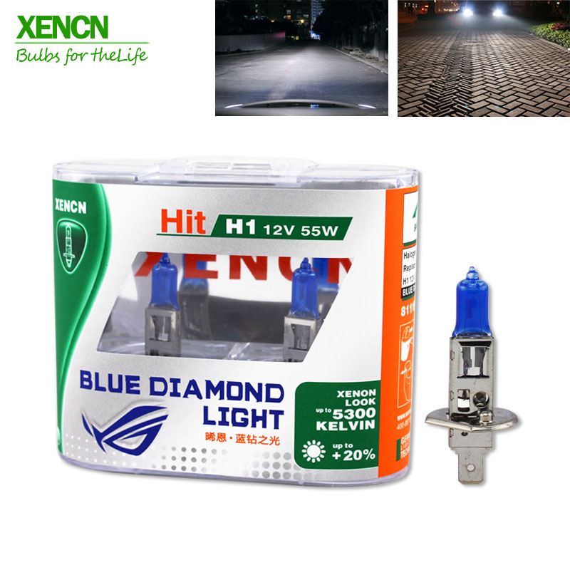 XENCN H1 12V 55W 5300K Blue Diamond Light Bil Hovedlyskaster Halogen Super White Hodelykt til Toyota Kia Opel vw Chevrolet Land Rover