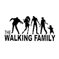 sticker motorcycle accessories 15.7*7.7cm Funny The Walking Family On Board The Walking Dead Zombie Motorcycle Decal Window Stickers Car Accessories Sticker (2)