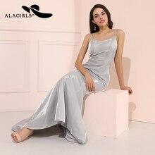 Alagirls New Designed Mermaid Evening Dress robe de soiree 2019 vestido noche Sexy Spaghetti Straps Prom Dresses V Neck Party