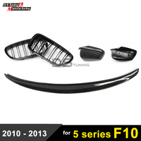 F10 Carbon Fiber Spoiler Wing / Side Door Mirror Cover / Front Grille For BMW 5 Series F10 F11 / F10 M5 535i 520i