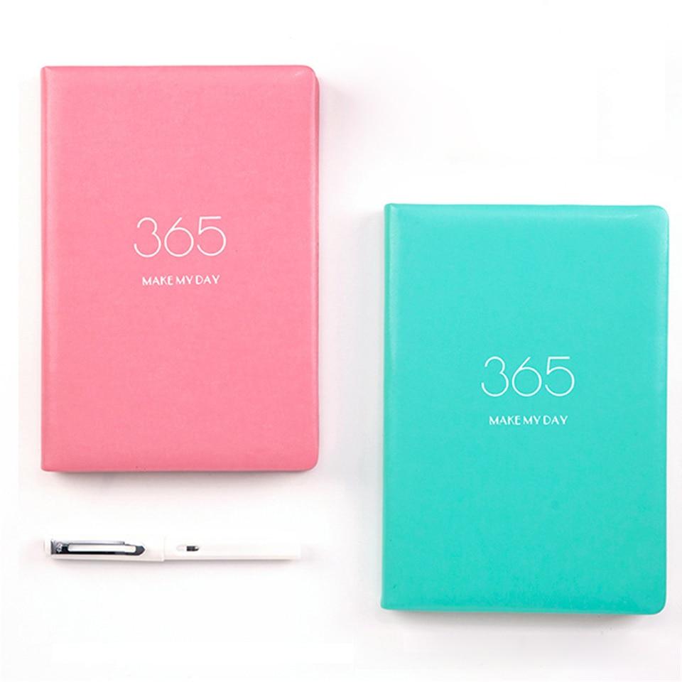A5 Grid Diary Cuaderno de cuero Kawaii bloc de notas 160 hojas - Blocs de notas y cuadernos