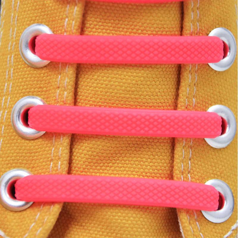 Без галстука эластичные шнурки для женщин I-shaped шнурки для обуви все кроссовки подходят Ремешок Модные ленивые шнурки 16 шт./компл.