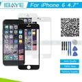 """Para iPhone 6 4.7 """"Branco Lente de Vidro Da Frente para o painel de Display LCD de Toque Digitador Da Tela de Substituição do iphone 6"""