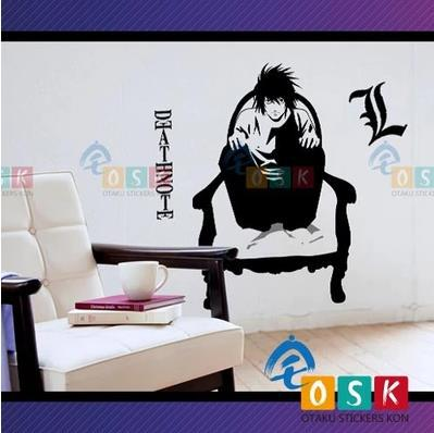 Car Sticker Japanese Cartoon FANS DEATH NOTE L Vinyl Wall Sticker Decal Decor Home  Decoration car sticker japanese cartoon fans seed gundam raiser vinyl wall stickers decal decor home decoration