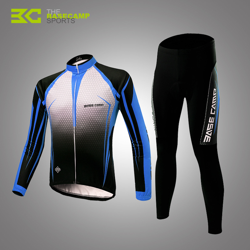 BASECAMP Mountain Bike Cycling Jersey Set Spring And Autumn Long-Sleeved Cycling Clothes Set Cycling Equipment For Unisex coolchange long sleeve cycling jersey suit male autumn and winter outdoor bike coat riding pants mountain bike equipment set
