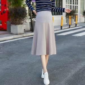 Image 3 - 2020 new fashion Korean version of the stretch maternity skirt stomach lift skirt skirt dress