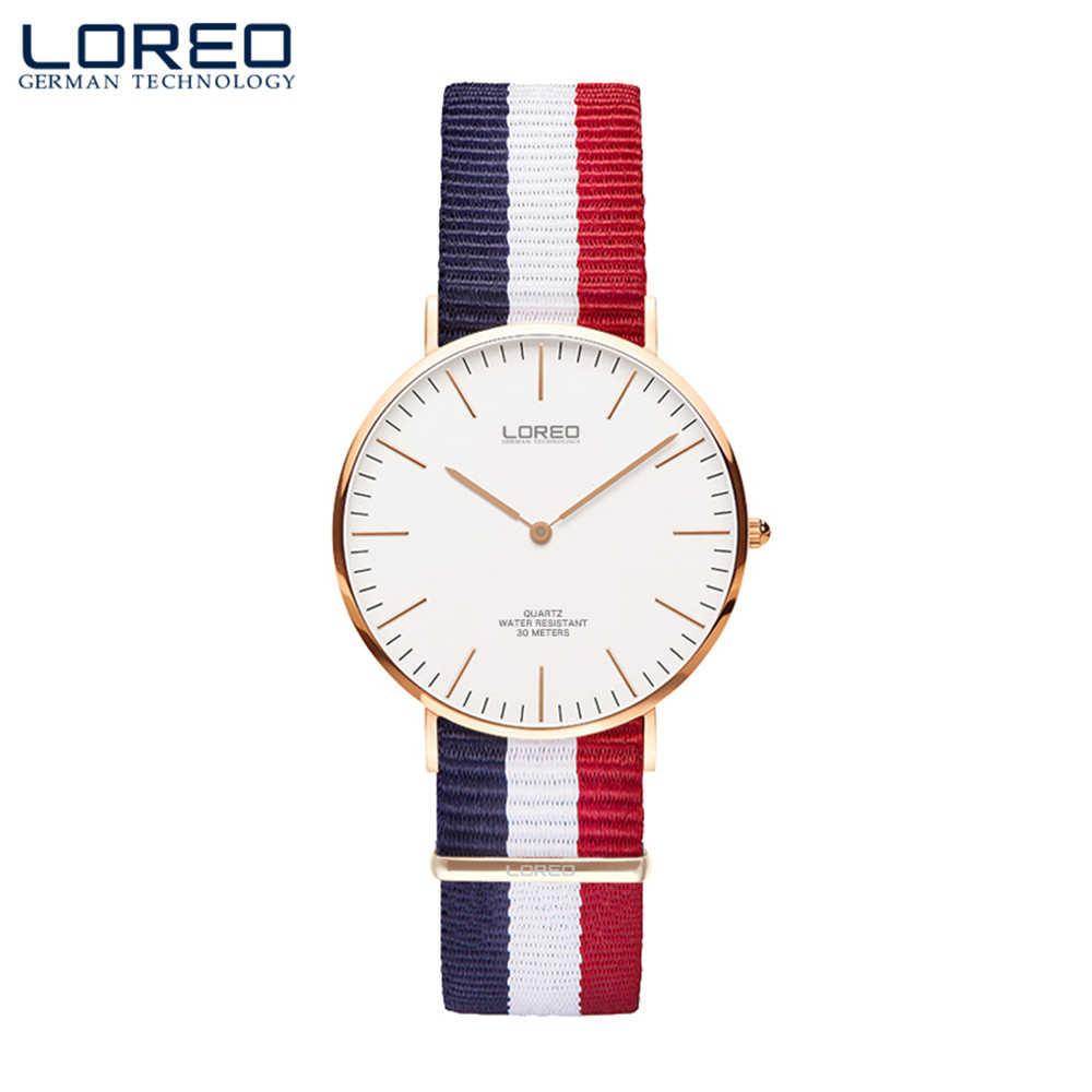 Lereo新しいファッションミニマ女性のローズ腕時計超薄型ナイロン時計バンド高級ブランドシンプルなレディースクォーツ時計2017