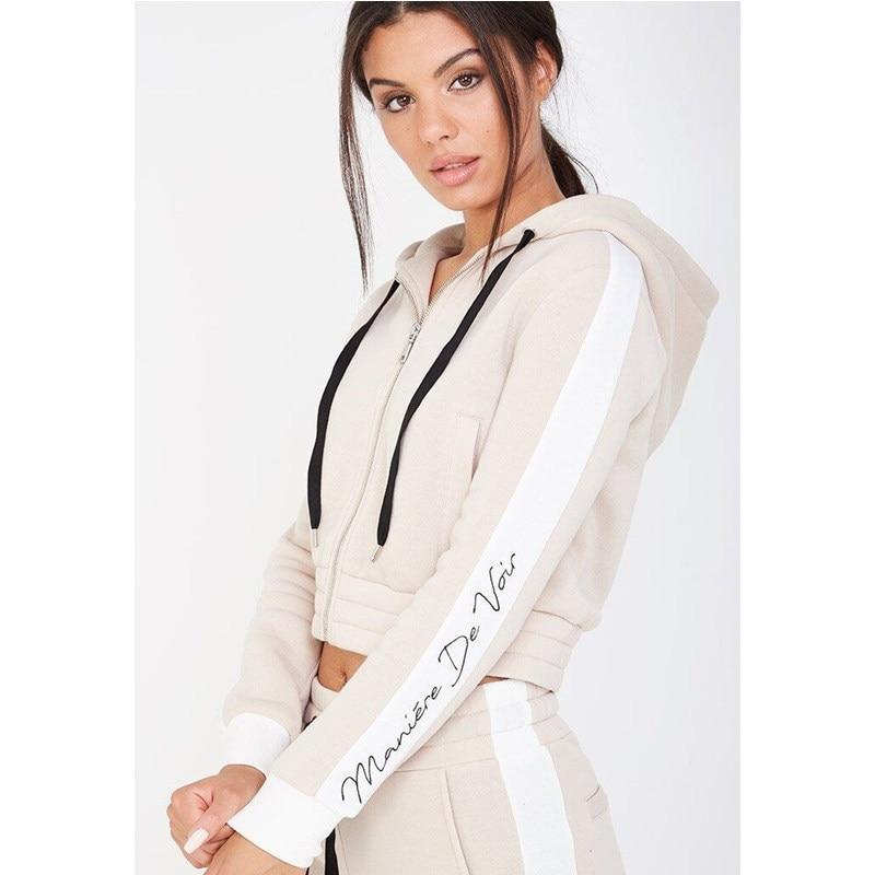 Z&P 2019 Hot Selling Women Casual Sportswear Lovely Printed Hoodies Long-sleeved Suit Sexy Tenue Femme Sportswear Sets