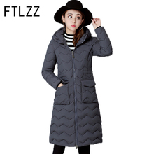 Woman Winter Coats And Jackets Slim  Streetwear Cotton Ladies  Hooded Parkas Mujer Invierno 2017 New Fashion Wear