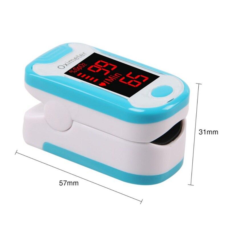 Fingertip Pulse Oximeter Finger Clip Pulse Oximeter / Oxygen Saturation Monitor / Heart Rate Monitor Black