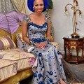 Nigéria Vestidos de Noite Da Sereia Com Flor de Cristal Elegante Vestidos de Noite Querida Mangas Curtas Cap BeadsGowns 2015
