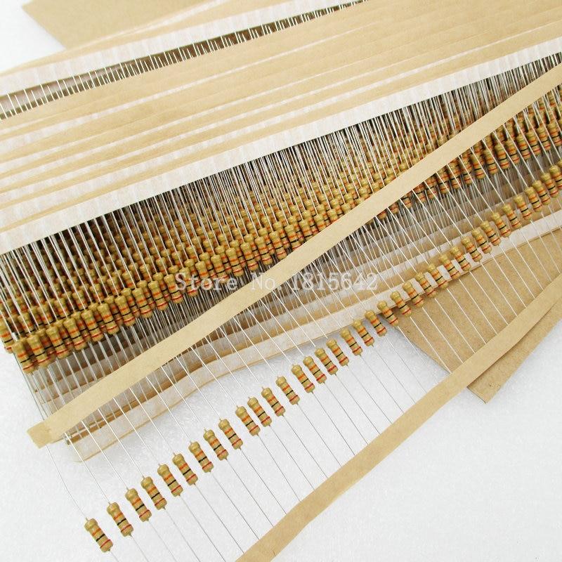 100PCS/LOT 1/2W Carbon Film Resistors 5% Error 2.2R 2R2 Ohm 2.2 Ohm Color Ring Resistance