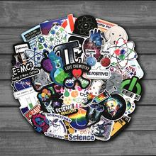 50PCS Chemical Experiments Equation Brain Science Laboratory Stickers For Laptop Skateboard Luggage Car Styling Doodle Decals