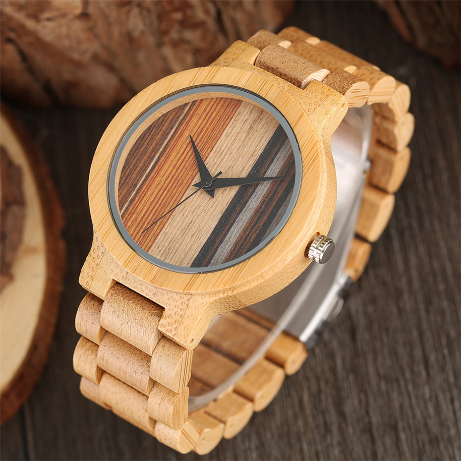 YISUYA Simple Handmade Nature Wood Quartz Wristwatch Analog Casual Women Full Wooden Bamboo Men Creative Watches 2017 New (7)