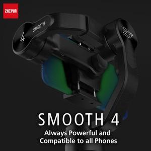Image 3 - Zhiyun lisse 4 Smartphone tenu dans la main 3 axes sans brosse stabilisateur de cardan pour iphone 5/6/7 X pour gopro action camera pk osmo 2