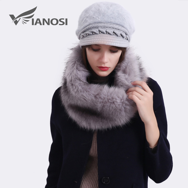 c655cec6e30 VIANOSI 5 style winter rabbit fur hat cap Fashion flowers Caps Lady  Headgear warm Beanies Women s Winter Hats female