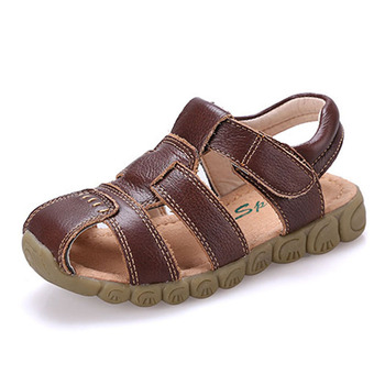 KALUPAO Childrens Shoes Boys Beach Sandal High Quality Summer Leather Sandals Soft Sole