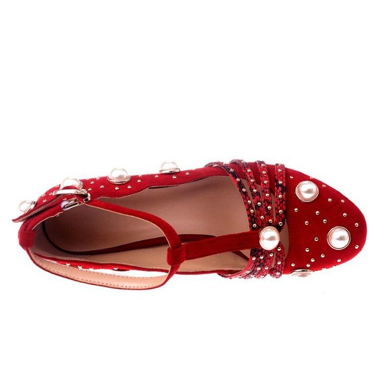 Strass Mot red Nouveau Simples Rouge Pompes Lolita Femmes De Avec Talon Haute Brut Noir Mary strap Chaussures Jane Black T Boucle xqrv0CRwq