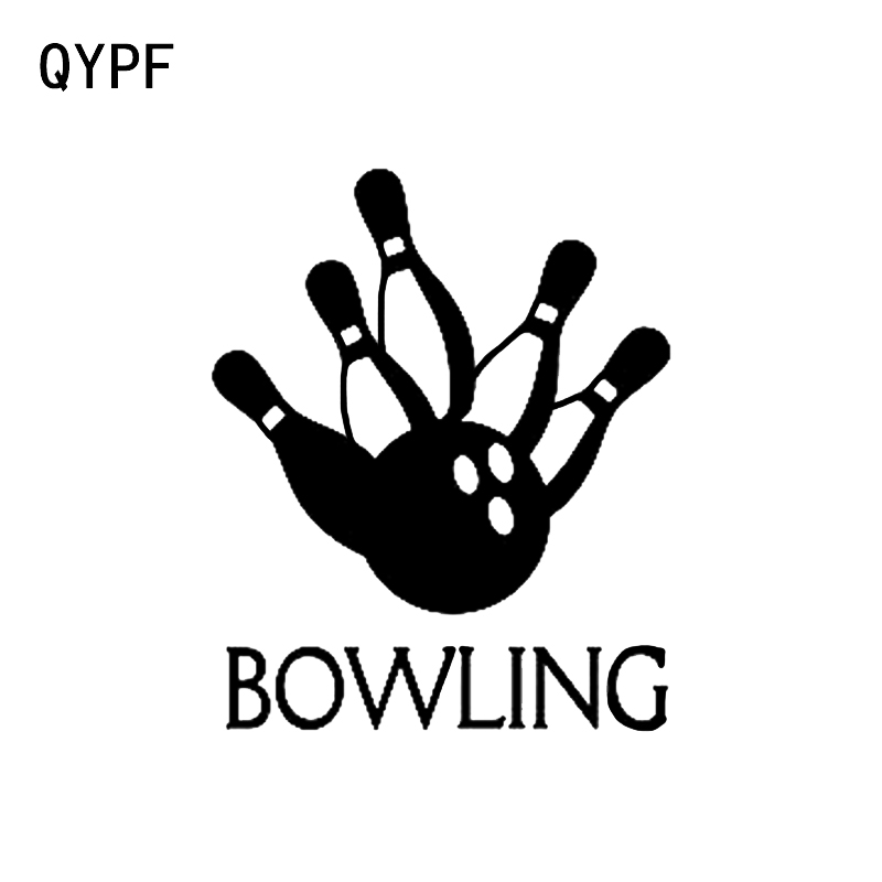 Automobiles & Motorcycles Qypf 12.2*14.9cm Bowling Game Leisure Decor Car Sticker Accessories Vinyl Sports Silhouette C16-1304 Volume Large