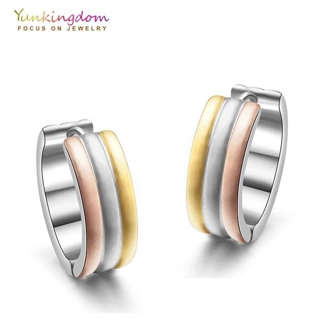 Yunkingdom Tungsten Steel Hoop Earrings For Women Anium Earring Punk Circle Ue0011
