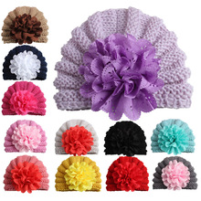Yundfly Knit Baby Hat Newborn Photography Props Candy Color Flower Beanie Cap Baby Fotografia Hair Accessories yundfly knit baby hat newborn photography props candy color flower beanie cap baby fotografia hair accessories
