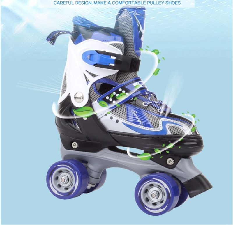Hot sale! Roller skate double row skating shoes pulley shoes 4 wheel shoes outdoor indoor riding asphalt road roller skate Hot sale! Roller skate double row skating shoes pulley shoes 4 wheel shoes outdoor indoor riding asphalt road roller skate