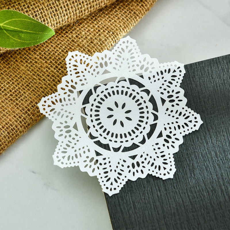 KSCRAFT White Lace Paper Doilies/Placemats for Wedding Party Decoration Supplies Scrapbooking Paper Crafts 3