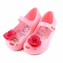 2018 Brazilian GIRLS Beauty Beast Jelly Sandals Rose Tea Teapot Children Shoes Melissa KIDS 13-18cm