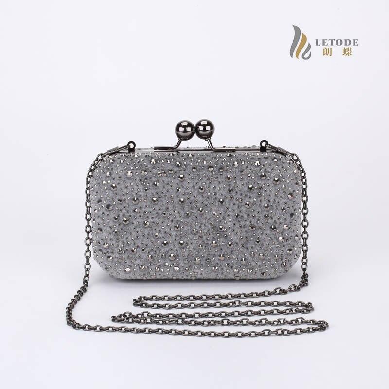b69a0c2c3a3 Rhinestone Diamonds women messenger bags ladies gold light blue handbags  famous brand fashion designer clutch bag bolsos 8153