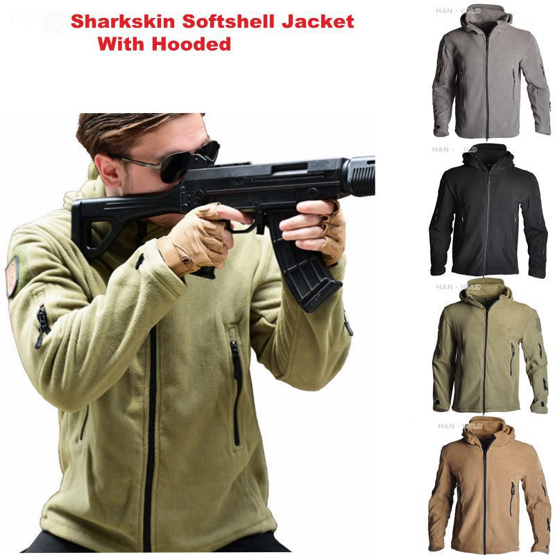 TAD Windbreaker Fleece Tactical Shark Softshell Jacket Outdoor Military Army Hooded Coat Men Hiking Camping Outerwear Clothes