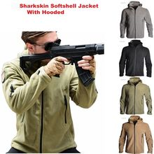 TAD Windbreaker Fleece Tactical Shark Softshell Jacket Outdoor Military Army Hooded Coat Men Hiking Camping Outerwear Clothes недорого