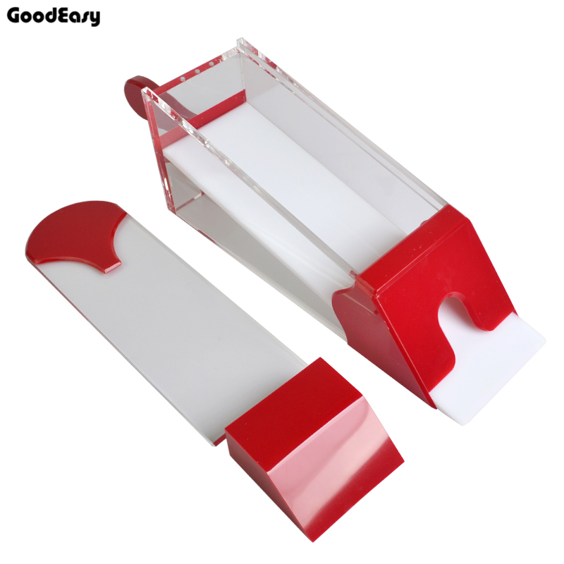 Chaud professionnel ordinaire acrylique carte chaussure Transparent rouge 8 paquets Pokers manuel carte chaussure avec couverture rouge concessionnaire