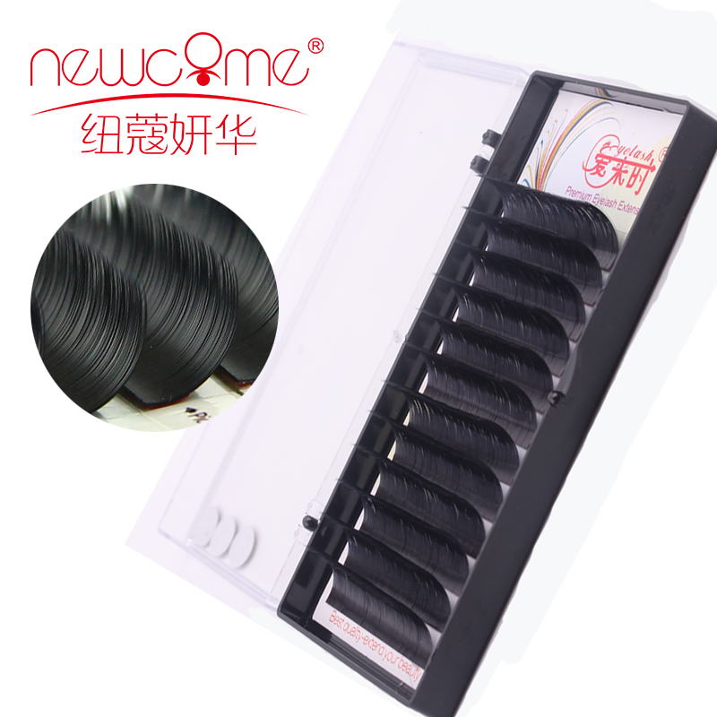 NEWCOME All Size 12 Rows 3D Individual Mink Eyelash Extension Handmade Natural Silk Fake Lashes Korea False Lashes Free Shipping