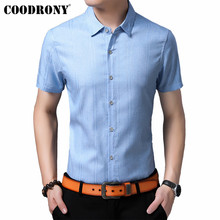 COODRONY Brand Men Shirt 2019 Spring Summer Cool Short Sleeve Cotton Streetwear Slim Fit Business Casual Shirts S96054