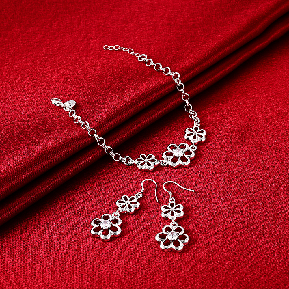 flower conjunto joyas taki seti k pop liverpool french polska mix taki Dahu Rico jewelry sets srebrne