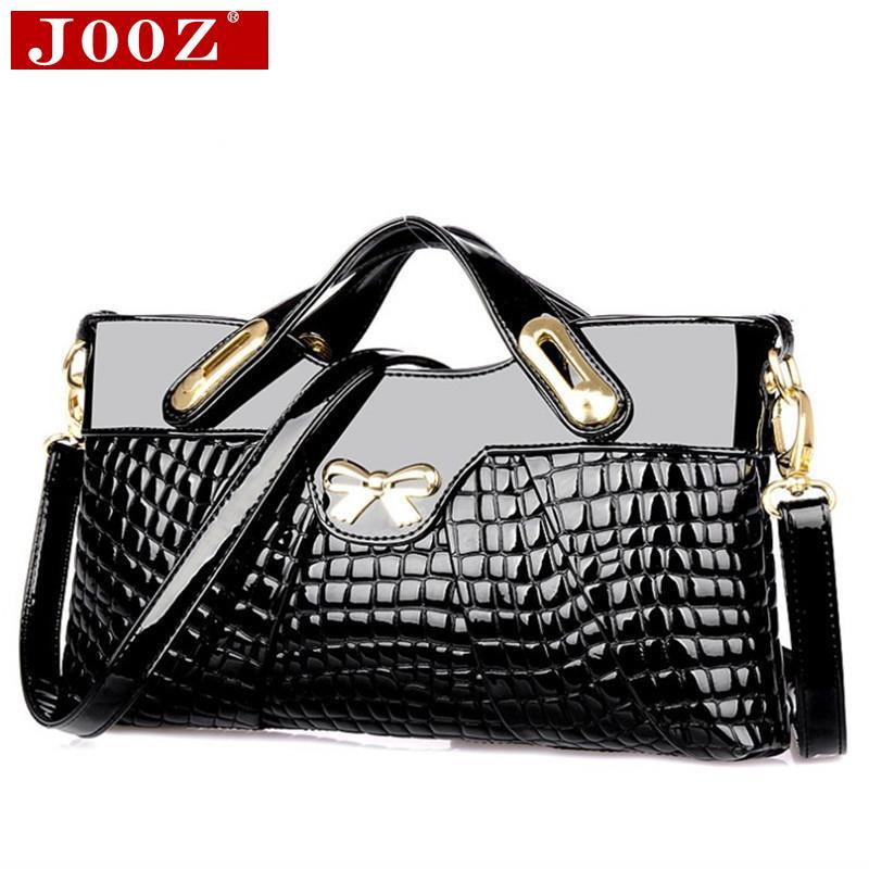 JOOZ designer handbags high quality woman leather handbags Crocodile women bag For Women party evening Clutch Bag 2017 designer handbags high quality