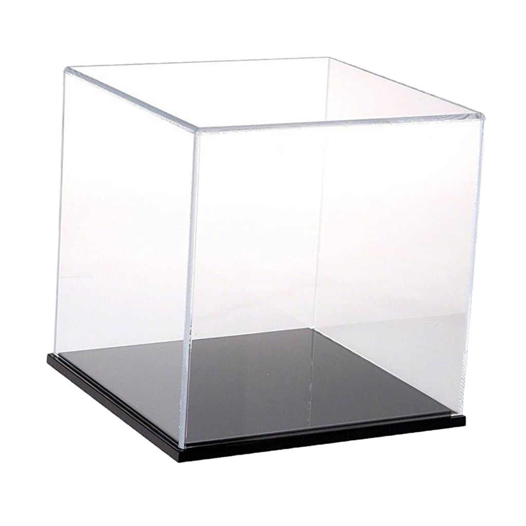 Clear Figure Display Case Showcase Box for TV Movie Action Dustproof 8x8x8cm